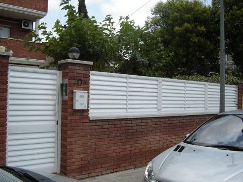 Alumini bartra carpinter a de aluminio fabricaci n propia - Vallas de jardin ...